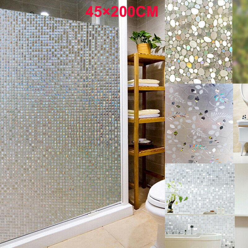 Us 1 59 20 Off New 45x200cm Frosted Cover Glass Window Floral Flower Sticker Film Office Door Bathroom Mosaic Glass Stickers In Wall Stickers From