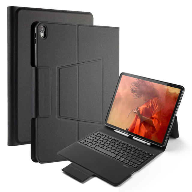 US $20 66 36% OFF For iPad Pro 12 9 2018 Keyboard Case Leather 7 Colors  Backlight US Keyboard Cover For iPad Pro 12 9 Inch 2018 Stand Pen Holder-in
