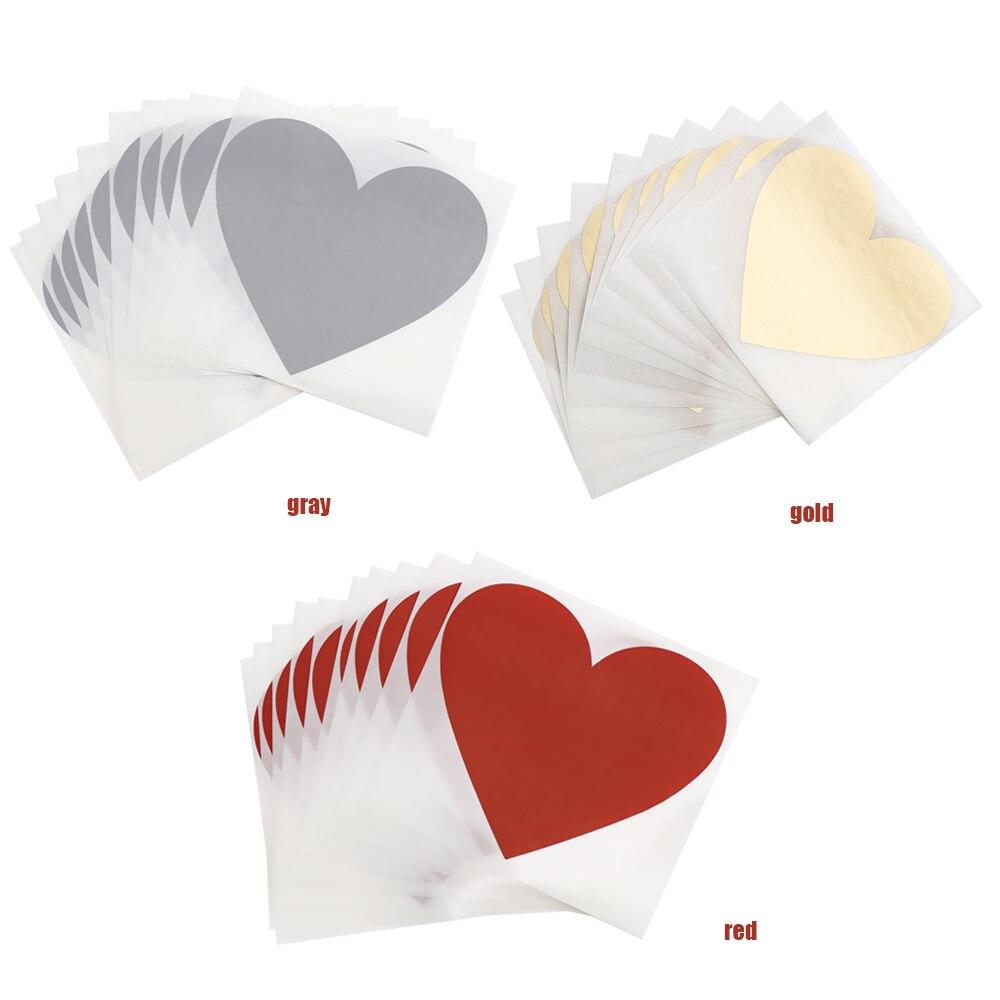 Купить с кэшбэком SIXONE 20 Pcs Diy Heart Scratch Coating Sticker Love Form Letter Scratch Note Card Decoration Multifunction Surprise Lover Gift