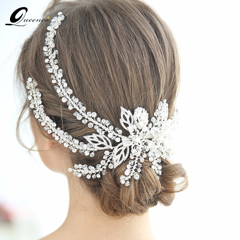 Luxury Crystal Beads Tiara Alloy Headband Fashion Crown New Design Wedding Hair Accessories Bridal Hair Jewelry Tiaras