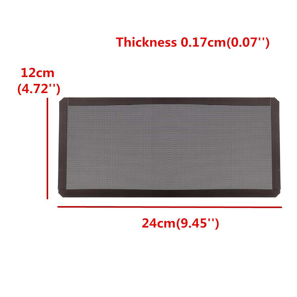 Купить с кэшбэком 12x24cm PC Case Cooling Fan Magnetic Dust Filter Mesh Net Cover Computer Guard For Computer/PC Case Cooling Fan