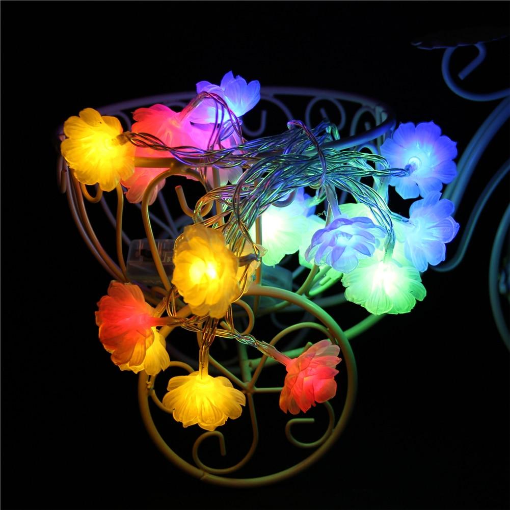 Fairy Lightsfairy LightsLotus Led String Light 1.5M-10M,10L/20L/40L/96L,3AA/31V US/EU Room Weding Party Wall Window Home Decoration Children Night Lamp