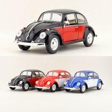 KiNSMART Toy, бесплатная доставка, Модель литья под давлением, масштаб 1:24, классический автомобиль Volkswagen Beetle, обучающая коллекция, подарок для ребенка