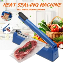 200mm/300mm Impulse Sealer Heat Sealing Machine Kitchen Food Sealer Vacuum Bag Sealer Plastic Bag Packing Tools 220V 50/60HZ