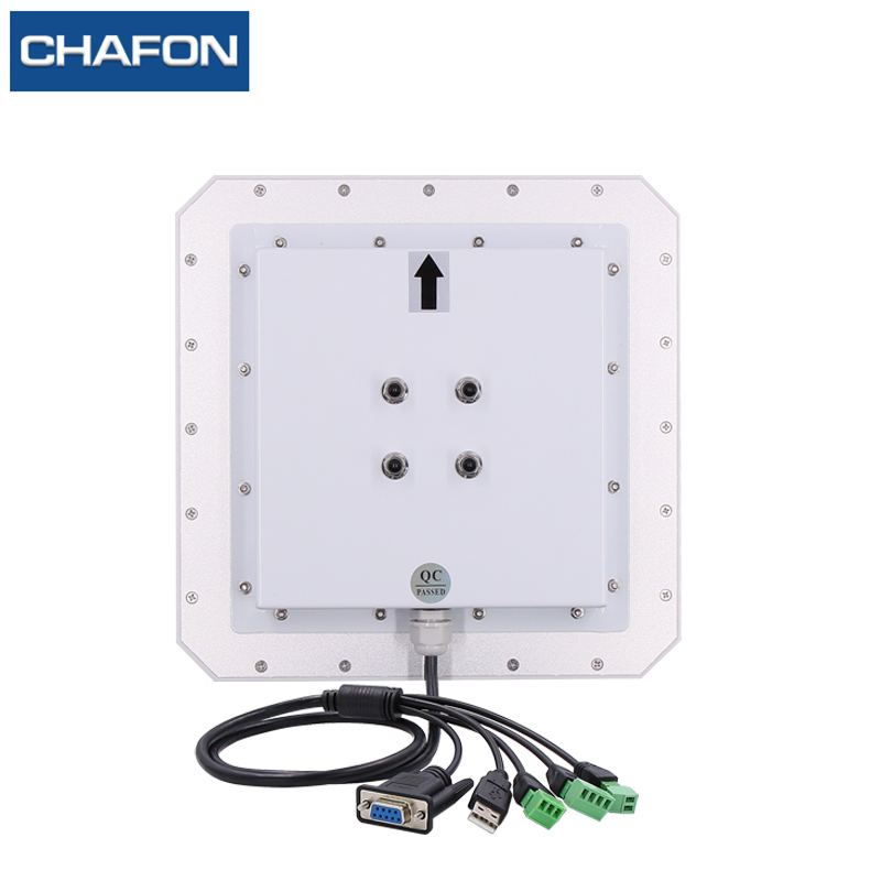 Image 2 - CHAFON 10M uhf rfid reader long range RS232 WG26 USB built in 9dbi circular antenna support firmware upgrade for car parking-in Control Card Readers from Security & Protection