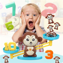 Monkey Match Math Board Game Balancing Scale Cognize Number Match Game Children Early Educational Learn Mathematics Toy Gift monkey number balance math toys match balancing scale game board game educational toy for child to learn add and subtract