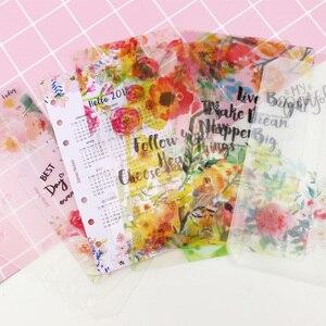 Image 3 - MyPretties 144 arkuszy kwiatowy wkłady pakiet A5 A6 do napełniania papiery do 6 Hole spoiwa organizer papiery 2019 Planner