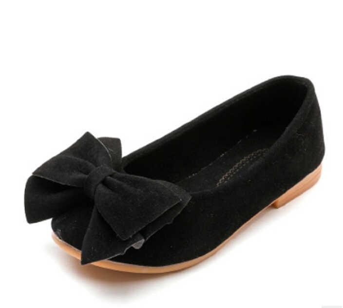 เด็กน่ารักเด็กผู้หญิงเจ้าหญิงโบว์รองเท้าเด็กรองเท้าเดียว Party Party Dance รองเท้า Anti - slip แฟชั่นรองเท้า