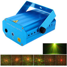 DJ Disco Xmas Party Club Light Mini LED Laser Projector Christmas Decorations Laser Disco Light Laser Light Dj Voice-activated(China)