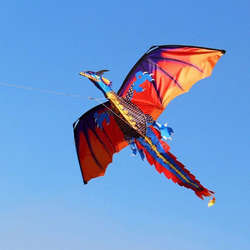 3D Дракон 100 м воздушный змей с одним леером с хвостом воздушные змеи весело игрушечный воздушный змей Семья спортивная игрушка для игр на