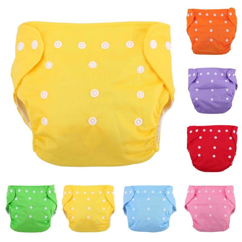 Reusable Baby Infant Cloth Diapers Grid Soft Covers Washable Size Adjustable Baby Cotton Training Pants Panties Nappy Changing