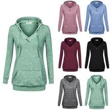 58b945a43b7 MOOSUNGEEK Hoodies,Long Sleeve Fleece Pullover Tunic Hoody Sweatshirt Pocket  Lake Green(China)