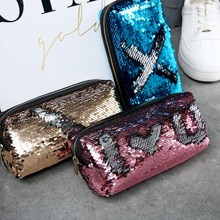 New student pencil bag Korean creative mermaid sequin pen school office storage Christmas before the nightmare