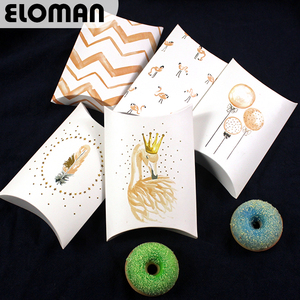 Flamingo pillow box for chocolate candy cookie ELOMAN wedding favor candy boxes(China)