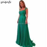 YNQNFS M55 Elegant Chiffon 2019 Emerald Green Mother of the Bride Dresses Plus Size Vestido Formal Dress Groom Mother Gown