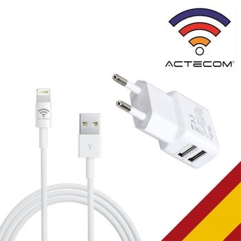 ACTECOM CARGADOR B PARED DOBLE MAS CABLE USB BLANCO PARA IPAD PRO aire 2