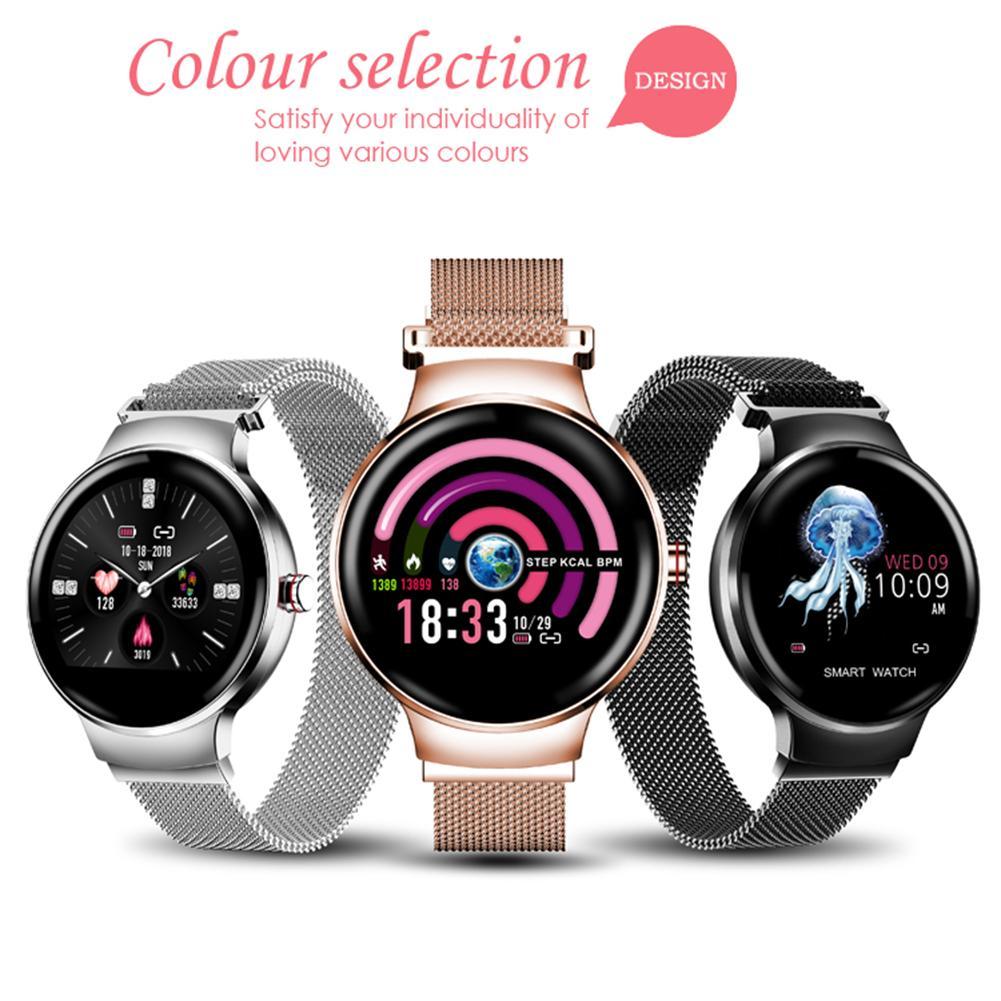 H5 femmes Bluetooth Bracelet intelligent Tracker de Fitness écran tactile natation montre intelligente étanche montre-Bracelet de fréquence cardiaque