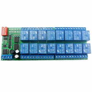 Image 4 - DYKB 16CH Modbus RTU RS485 Relay Module Bus Remote Control Switch Board PLC control DC 12V FOR Lamp LED Motor PLC PTZ Smart Home