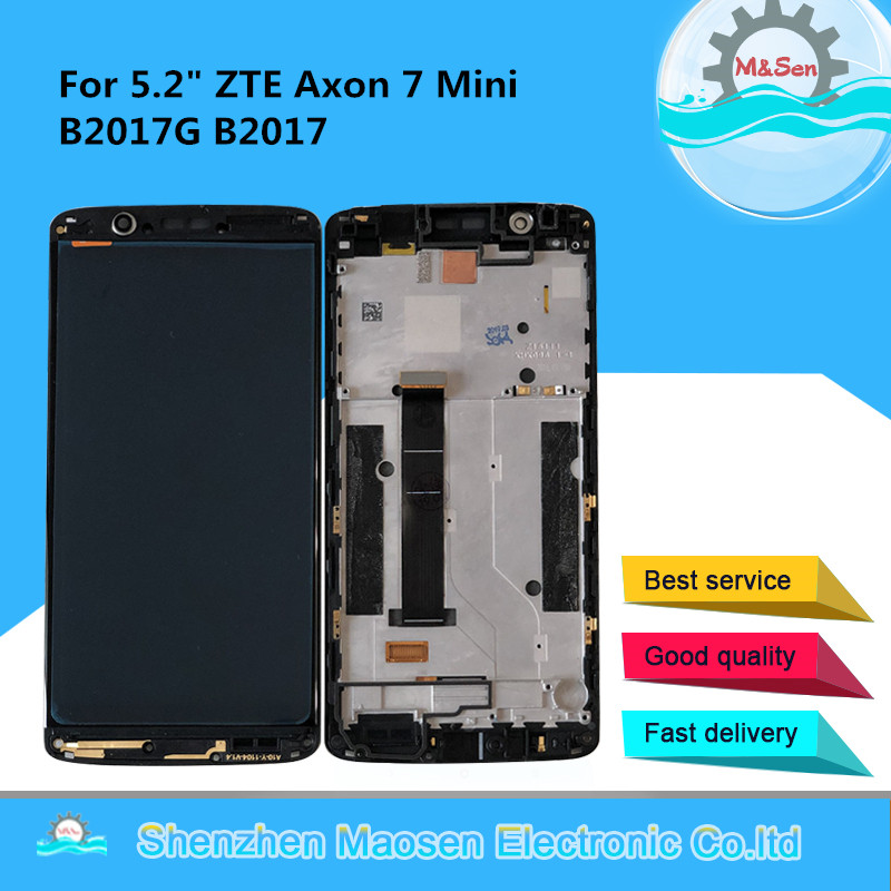 """Original M&Sen For 5.2"""" ZTE Axon 7 Mini B2017G B2017 Super AMOLED LCD Display Screen With Frame+Touch Screen Panel Digitizer-in Mobile Phone LCD Screens from Cellphones & Telecommunications    1"""