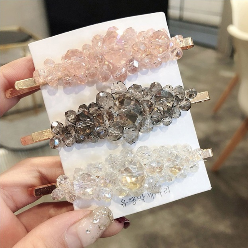 Bling Hair Accessories Gift Women Crystal Cute NEW Elegant Bow   Headwear   Barrette Girls Shiny Hair Clips Fashion Hairpin Sweet