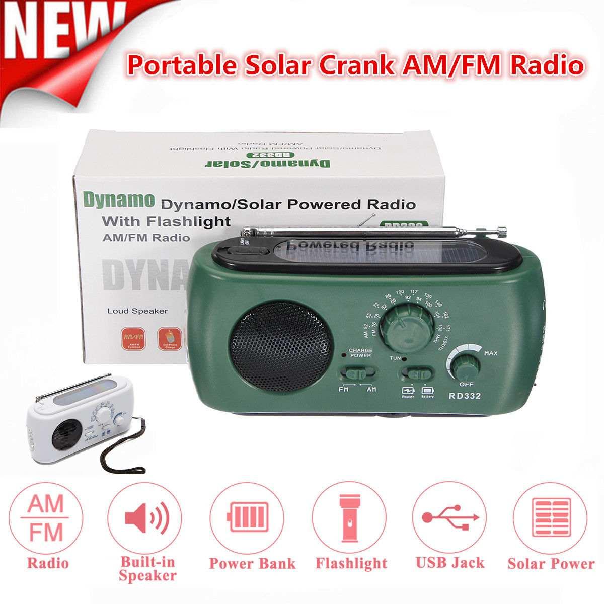 Unterhaltungselektronik Notfall Tragbare Solar Kurbel Am/fm Wetter Radio Mit Led Taschenlampe Mit Zelle Lade Interface Tragbares Audio & Video