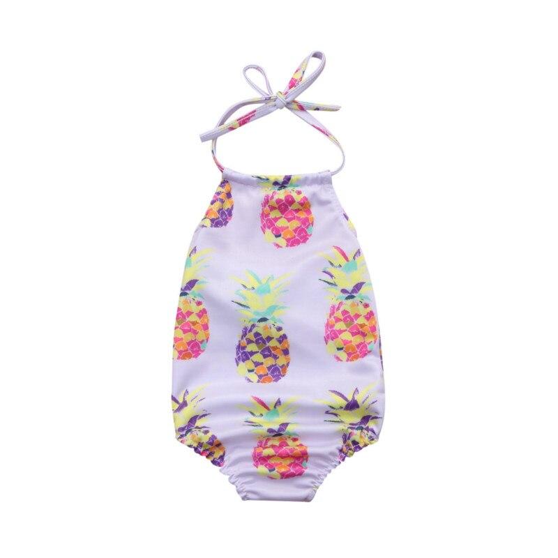 0-24M Cute Newborn Baby Girl Pineapple Print Sleeveless Strap Swimwear One Pieces Beachwear Bathing Suit Swimsuit Costume | healthy feet socks