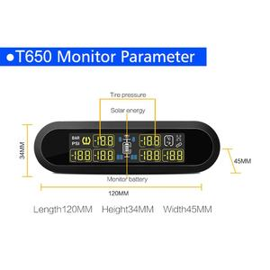 Image 3 - Smart Car TPMS LCD Tire Pressure Monitoring System 6 Sensors Auto Security Alarm Systems Tyre Pressure for VW Toyota SUV