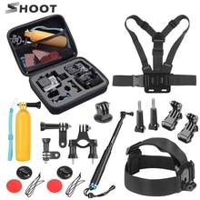 SHOOT Action Camera Accessories Set for GoPro Hero 9 8 7 6 5 4 Session Xiaomi Yi 4K Sjcam Sj4000 Chest Head Strap Mount Kits