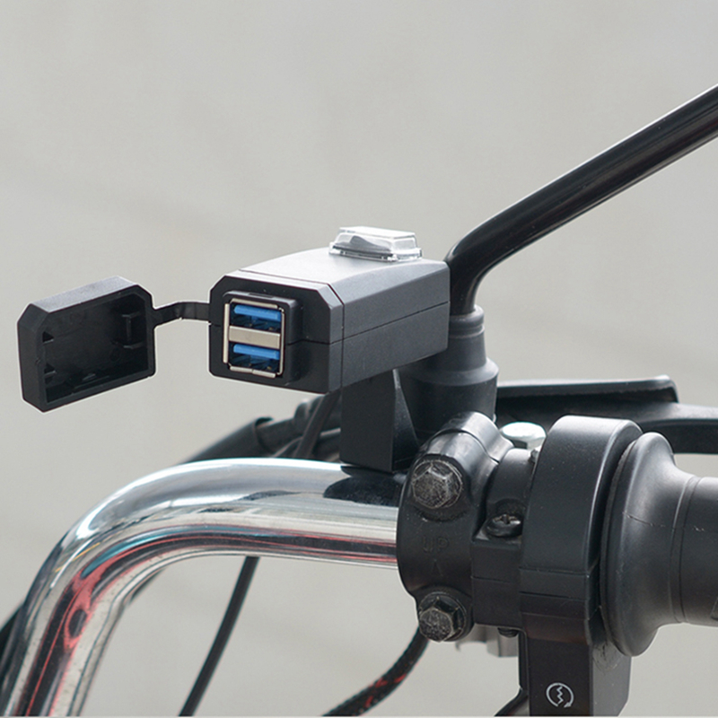 QC3 0  USB Motorcycle Charger Moto Equipment Dual USB Quick Change 12V Power Supply Adapter For Iphone Samsung Huawei