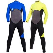 SBART New One-piece 2 Mm Childrens Wetsuit Diving Snorkeling Suit Children Prevented UV Surf Neoprene Snorkel