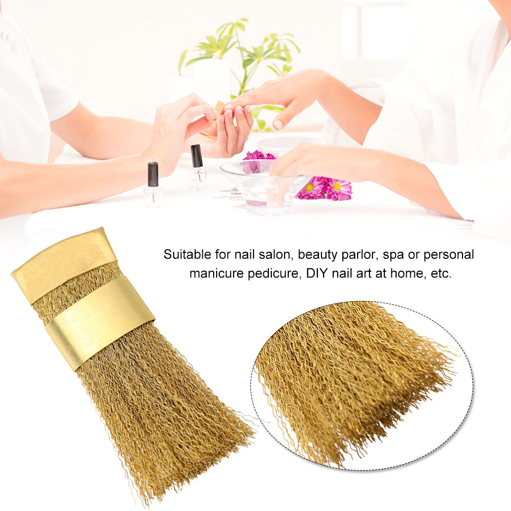 Nail Drill Bits Cleaning Brush Drill Bits Brush Portable Cleaner Metal Brush Copper Drill Cleaning Brush Manicure Tool