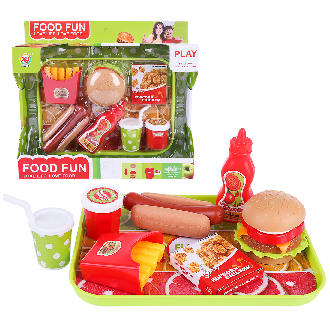 Pretend Play Toys & Hobbies Doll Pizza Hamburger Bread Fast Food Pretend Play Plastic Miniature Food Children Kitchen Cutting Toys Kids Education Toy Gift Volume Large