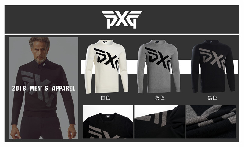 все цены на PXG Golf sweater Men's winter golf training sweater warm clothing long-sleeved T-shirt 3 color S-XXL golf sweater