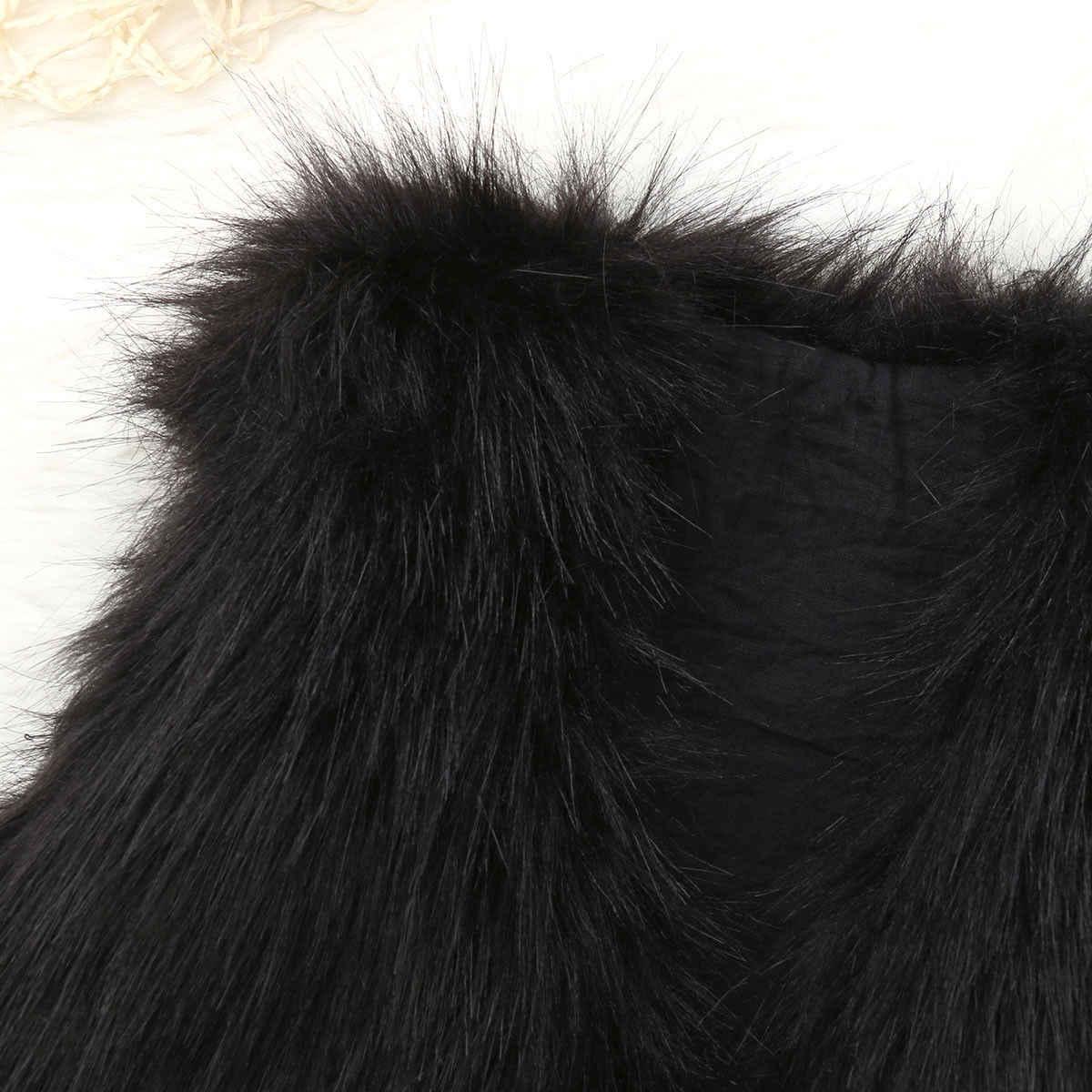 Pudcoco/2019 Фирменная Новинка для маленьких девочек верхняя одежда искусственный мех Зимние Теплые талии жилет пальто