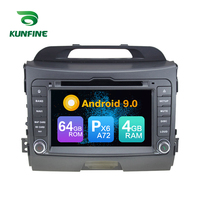 Android 9.0 Core PX6 A72 Ram 4G Rom 64G Car DVD GPS Multimedia Player Car Stereo For Kia SPORTAGE 2010 2012 radio headunit