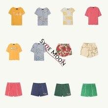 Детские футболки лето 2019 г. Тао бренд обувь для мальчиков девочек футболки с коротким рукавом Дети Одежда с принтом буквы детские футболки