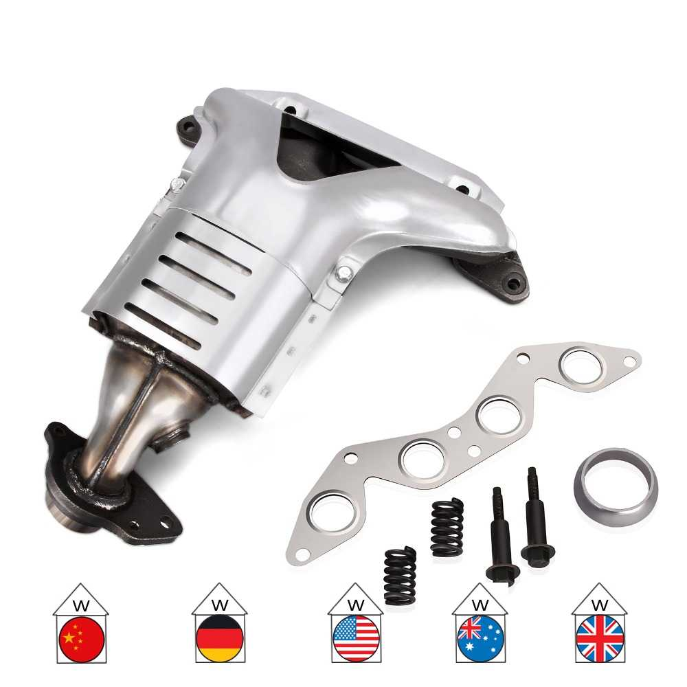 new exhaust manifold w catalytic converter front 01 05 for honda civic lx 1 7l new
