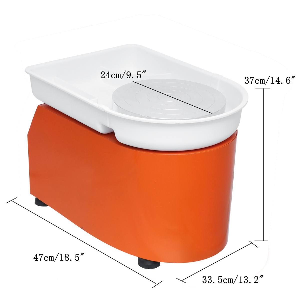 Poterie formant la Machine 110 V/220 V 350 W poterie électrique roue argile pour travaux pratiques outil avec plateau pédale Flexible pour les travaux en céramique - 5