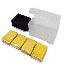 Magic clay aplicador para lavagem de carro, 4 peças com esponja, barra de argila, cuidados com a pintura apagador de borracha