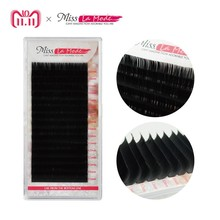 Misslamode All Sizes Mink Eyelashes Free shipping Natural soft individual eyeLashes Extension volume