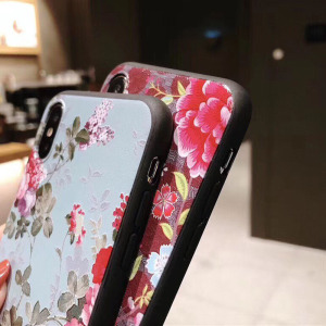 Image 5 - USLION 3D Emboss Flower Phone Case For iPhone 11 X XR Xs Max 8 Plus 11 Pro Max Camellia Rose Leaf Cover For iPhone 7 6 6S Plus