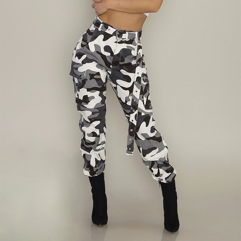 Military Women Camouflage Harem Pants Fashion Workout Pantalon Femme Trouser Casual Sweatpants Spring Streetwear Cargo Overalls