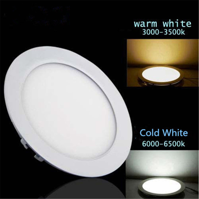 AC/DC 12V 24V Led Downlight 3W 4W 6W 9W 12W 15W 25W Led Ceiling Recessed Grid Downlight Round Panel Light Free Shipping
