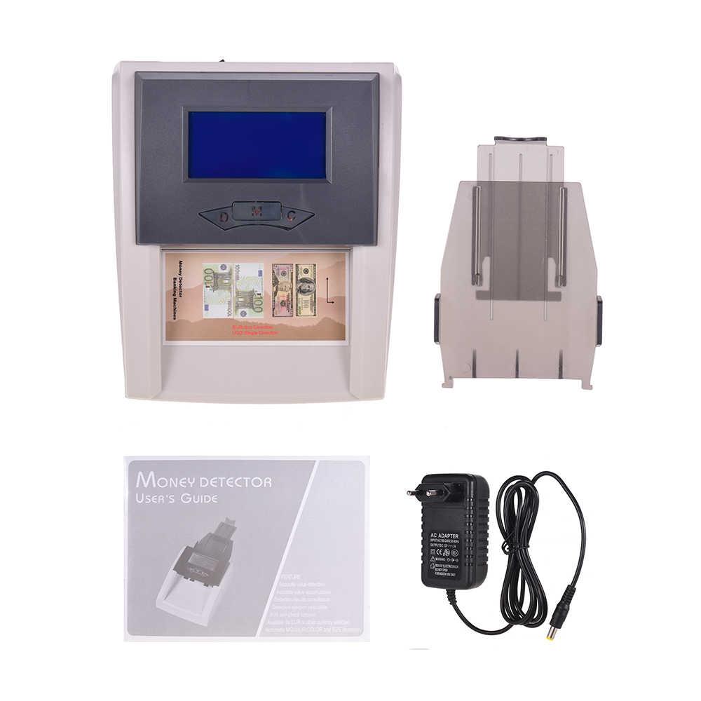 Portable Desktop Dihitung Otomatis Detektor Uang Palsu Arus Mata Uang Uang Kertas Checker dengan LCD Display untuk Euro USD