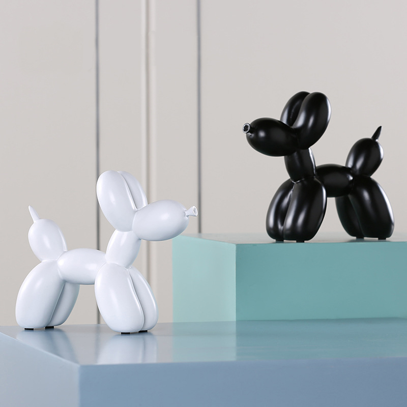 2018 Fashion Ballon Dog Eight Colors Ceramic Resin Crafts Sculpture Statue Creative Gifts Modern Baloon Home Decorations Statues-in Statues & Sculptures from Home & Garden    1