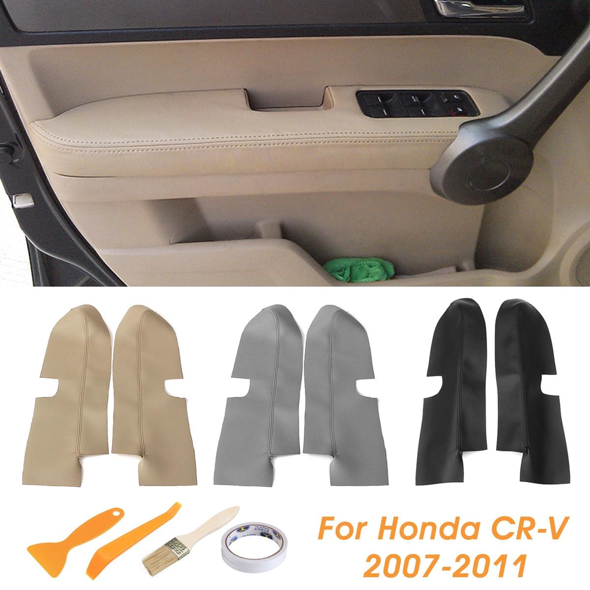 Pair Car Leather Front Door Panels Armrest Cover For Honda CRV 2007 2008 2009 2010 2011 2012 Black/Beige/GreyPair Car Leather Front Door Panels Armrest Cover For Honda CRV 2007 2008 2009 2010 2011 2012 Black/Beige/Grey