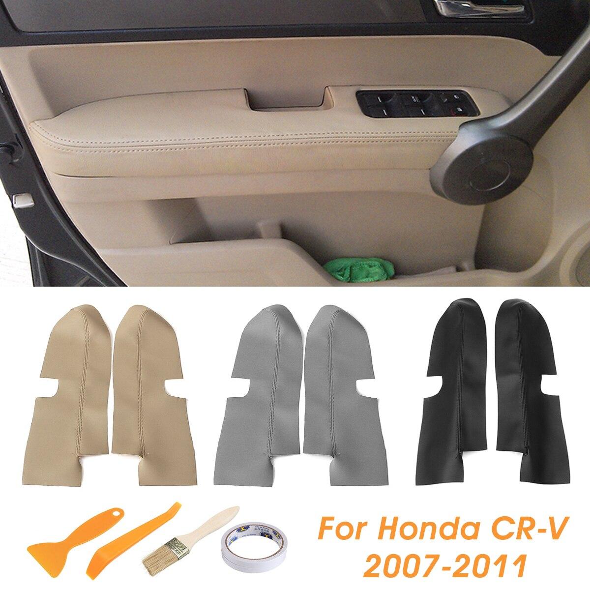Paire de panneaux de porte avant en cuir pour Honda CRV 2007 2008 2009 2010 2011 2012 noir/Beige/grisPaire de panneaux de porte avant en cuir pour Honda CRV 2007 2008 2009 2010 2011 2012 noir/Beige/gris