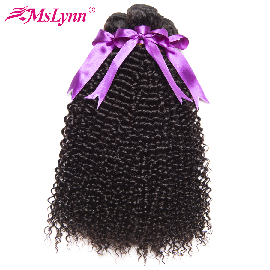 Afro Kinky Curly Hair Bundles Malaysian Hair 100 Human Hair Bundles Mslynn Non Remy Hair Extension