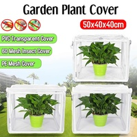 Mini Garden PVC/PE/Mesh Plant Cover Warm Tier Household Greenhouse Anti Mosquito Breathability Bugs Insects Birds Rodents Warm