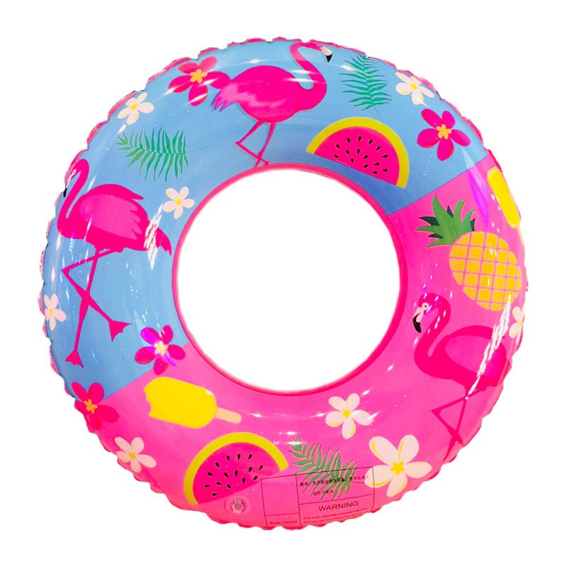60/70/80/90 CM Swimming Ring Inflatable Pink Flamingo Swim Circle For Children Beach Party Summer Toys Adults Pool Floats Buoy